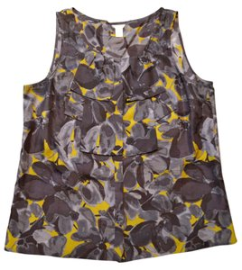J.Crew Cami Whimsical Floral Silk Top Purple Olive
