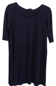 Eileen Fisher short dress Dark black Silk Size Med on Tradesy