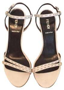 Fendi Summer Stiletto Strappy White Sandals