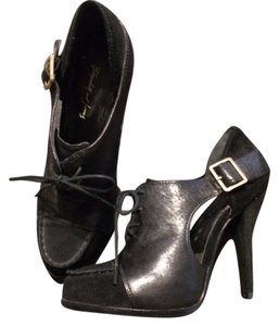 Elizabeth and James Suede Cutout Hidden Platform Black Boots