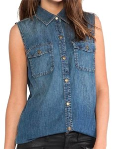 Current/Elliott Denim Sleeveless Top INDIGO