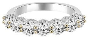 Avi and Co 3.50 cttw Round Brilliant Cut Diamond Seven Stone Wedding Band 18K White Gold