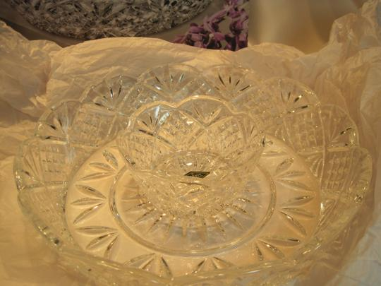 GODINGER Dublin Crystal Crudite'/Chip & Dip Server; 2- Piece Server by GODINGER Crystal - [ Roxanne Anjou Closet ]