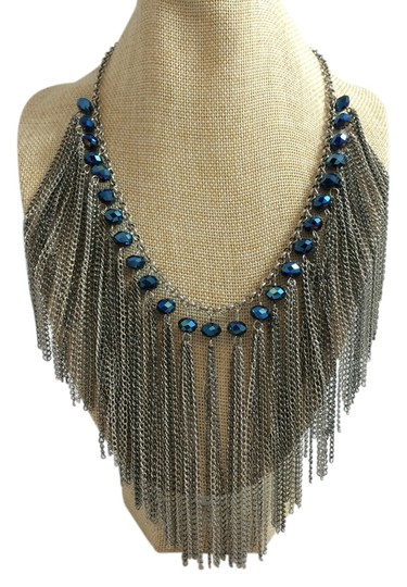 Other Silver and Blue Necklace
