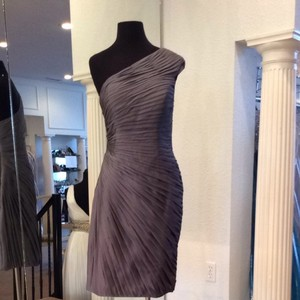 Bari Jay Charcoal Bridesmaid/Mob Dress Size 10 (M)