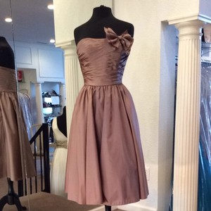 Mori Lee Praline Bridesmaid/Mob Dress Size 8 (M)