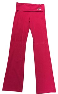 Hollister Yoga Boot Cut Foldover Flare Pants Hot pink