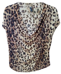 Draped Top leopard