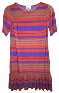 Donna Morgan short dress Orange, Purple on Tradesy