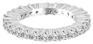 Avi and Co 3.00 cttw Round Brilliant Cut Diamond Common Prong Eternity Band 14K White Gold