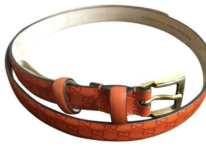 Gucci Gucci 269813 Orange GG Logo belt