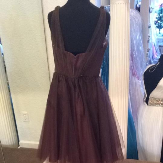 Forever Yours Chocolate Bridesmaid/Mob Dress Size 8 (M) Image 2