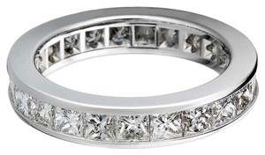 Avi and Co 2.50 cttw Princess Cut Diamond Channel Set Eternity Band 14K White Gold