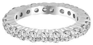 Avi and Co 4.25 cttw Round Brilliant Cut Diamond Common Prong Eternity Band 14K White Gold