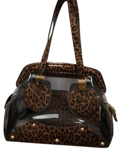 Stuart Weitzman Satchel in Black/tan/clear