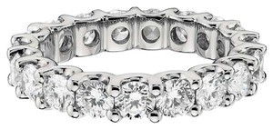 Avi and Co 2.85 cttw Round Brilliant Cut Diamond U-Shape Prong Eternity Band 14K White Gold