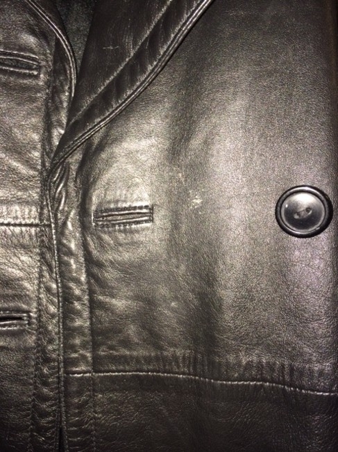 Bagatelle Vintage Leather Pea Coat