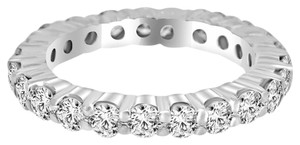 Avi and Co 4.80 cttw Round Brilliant Cut Diamond Common Prong Eternity Band 14K White Gold