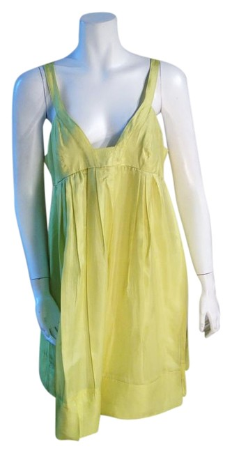Preload https://item2.tradesy.com/images/graham-and-spencer-chartreuse-silk-flowing-mid-length-short-casual-dress-size-12-l-15391156-0-1.jpg?width=400&height=650
