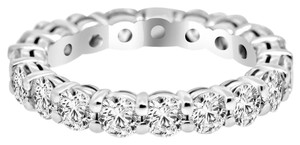 Avi and Co 5.10 cttw Round Brilliant Cut Diamond Common Prong Eternity Band 14K White Gold