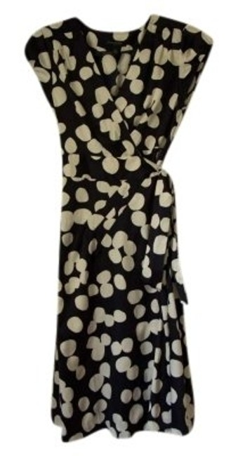 Banana Republic Polka Dot Navy Dress