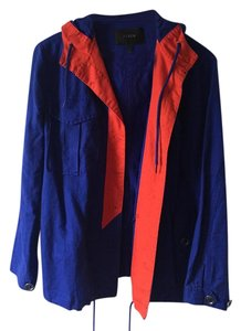 J.Crew J Crew Spring Blue and Red Jacket