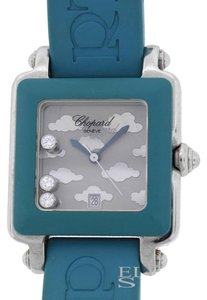 Chopard CHOPARD HAPPY SPORT SQUARE WATCH WITH FLOATING DIAMONDS 27/8896 27MM