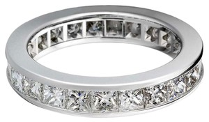 Avi and Co 3.75 cttw Princess Cut Diamond Channel Set Eternity Band 14K White Gold