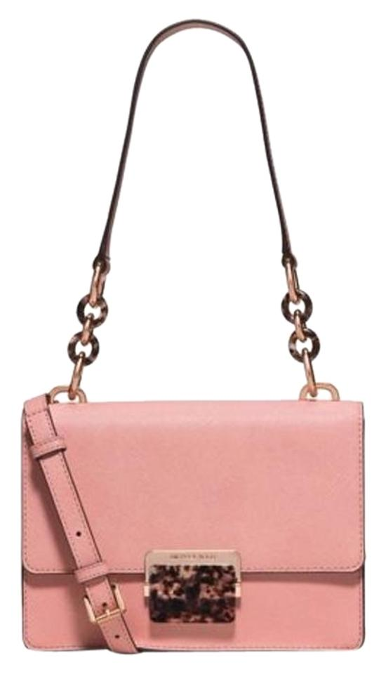 2c200c48d590 Michael Kors Cynthia Small Or Crossbody Pale Pink Leather Shoulder ...