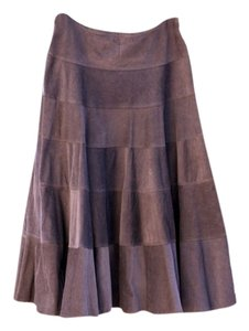 Necessary Objects Corduroy Skirt Brown