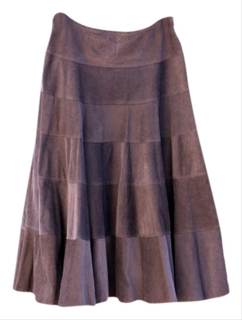 Necessary Objects Corduroy Women Skirt Brown