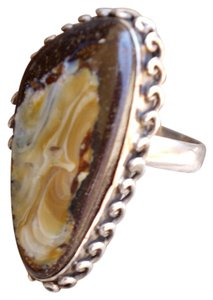 Other Beautiful Sterling Silver Boulder Opal Gemstone Ring in size 8.5