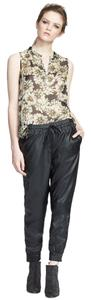 L'AGENCE Faux Leather Relaxed Pants Black
