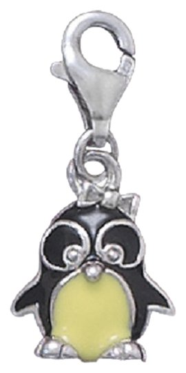 Impulses Enamel Penguin Charm with Lobster Clasp