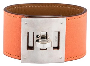 Herms Hermes Kelly Dog Bracelet Coral