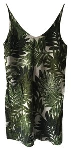 Topshop short dress Green Leaf Print Nordstrom on Tradesy
