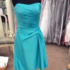 Mori Lee Turquoise Bridesmaid/Mob Dress Size 10 (M)