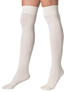 American Apparel American Apparel Opaque Cable Knit Over The Knee Sock