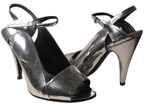 BCBGMAXAZRIA Metallic Silver Formal