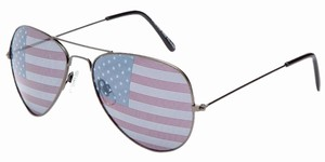Other Hematite Metal American Flag Sunglasses