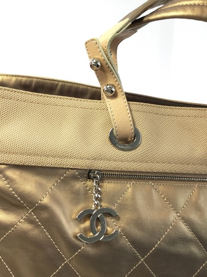 Chanel Extra Large Gold Tote in Champagne