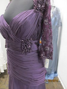 Montage Purple Chiffon/Lace 21395 Formal Bridesmaid/Mob Dress Size 22 (Plus 2x)