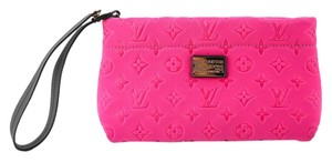 Louis Vuitton Embossed Pink Clutch