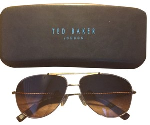 Ted Baker Gold Aviator Sunglasses