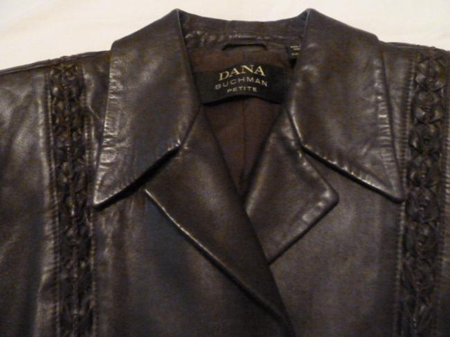 Dana Buchman Leather and wool two piece suit Image 1