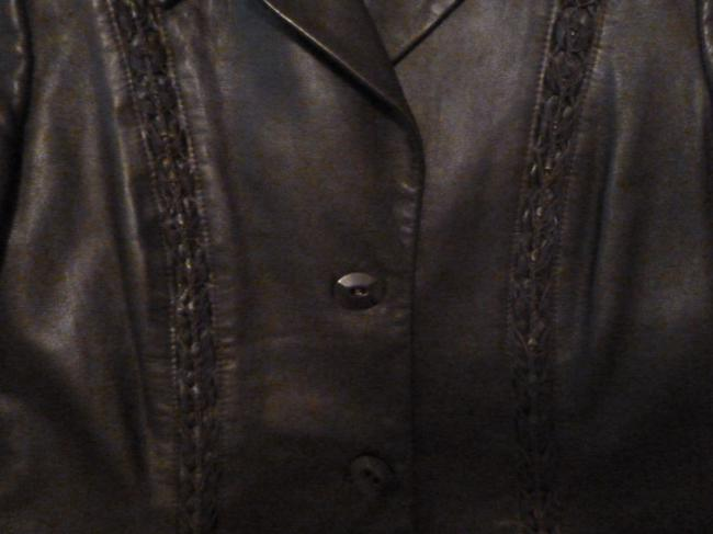 Dana Buchman Leather and wool two piece suit Image 2