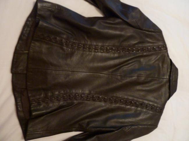 Dana Buchman Leather and wool two piece suit Image 3