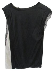 3.1 Phillip Lim Lace Trim Scoop Neck Top Black