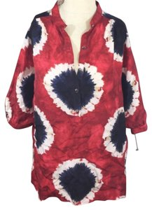 Michael Kors Top Red White Blue
