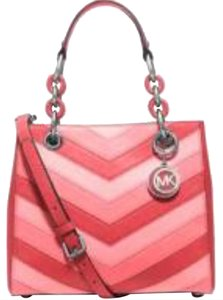 Michael Kors Saffiano Leather Small Satchel in Pink